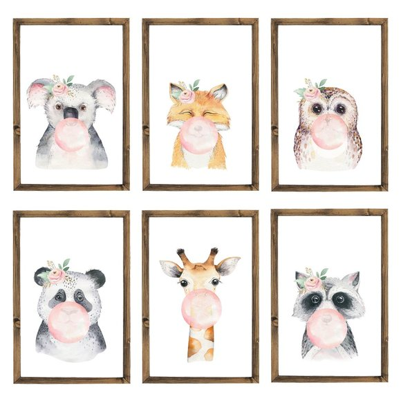 The Pink Toolbox Other - Nursery Wall Art 6 Piece Display